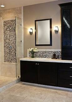 bathroom tile gallery ideas accent tile framed with chair rail in shower and vanity bathroom the tile shop bathroom gallery