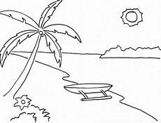 Lukisan Dan Sketsa Pemandangan Alam Yang Mudah Untuk Di