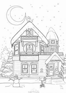Ausmalbilder Weihnachten Haus Fensterbilder Ausmalbilder F 252 R Weihnachten Und Winter