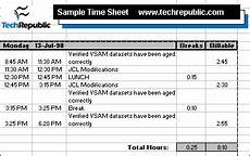 stay track with our sle excel time sheet techrepublic