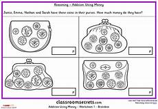 adding money worksheets ks1 2569 addition using money ks1 reasoning test practice classroom secrets