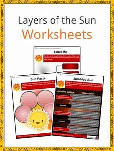 layers of the sun worksheet space astronomy worksheets lesson plans study