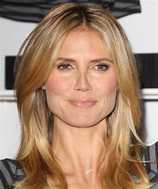 Heidi Klum Casual Hairstyle Medium Copper