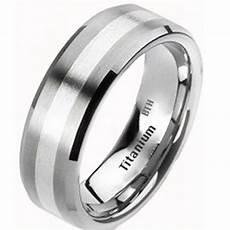 mens titanium sterling silver wedding band besttohave com