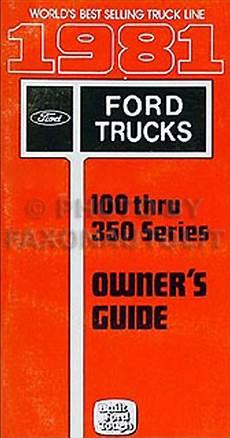 1981 Ford F100 F150 F250 F350 Truck Foldout Wiring
