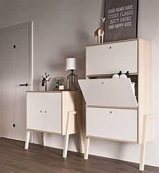 meuble à chaussure design meuble 224 chaussures design en bois blanc 3 compartiments