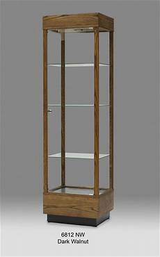 wooden rectangular glass display cabinet tower