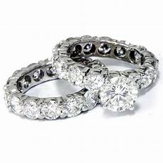 9 1 2ct diamond eternity engagement ring wedding set 14k