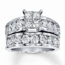 white gold princess cut wedding sets white gold
