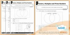 ks2 common factors multiples and prime numbers worksheets