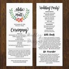 wedding programs wedding ceremony programs wedding program ideas sle wedding