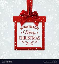 we wish you a very merry christmas square banner vector image