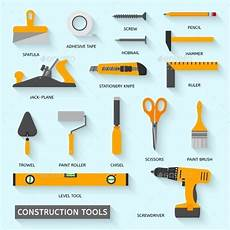 Equipment Names And Uses by Construction Tools Vector Icons Set Equipment