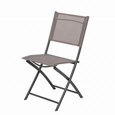chaise pliante de jardin chaise de jardin en acier denver taupe leroy merlin