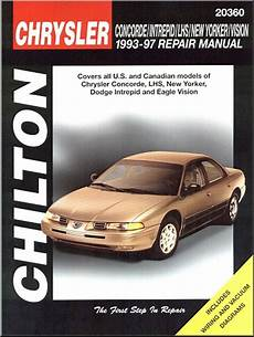 car repair manuals online free 1995 chrysler lhs instrument cluster chrysler concorde lhs new yorker dodge intrepid eagle vision repair manual 1 ebay