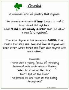 limerick poems step by step worksheets free by little rain