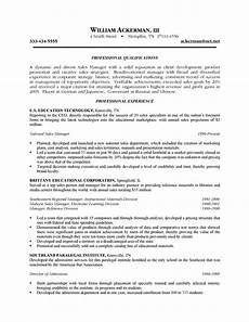 7 exle of a sales resume penn working papers