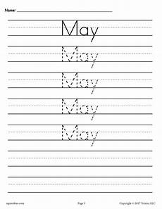 handwriting worksheets months of the year 21479 12 free handwriting worksheets months of the year supplyme