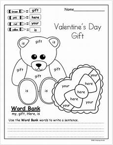 s day writing worksheets 20627 free kindergarten high frequency words writing worksheet for s day kindergarten