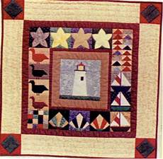 little lighthouse wall hanging pattern by seagull quilts