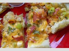 delicious cheesy bacon and green onion potato skins_image
