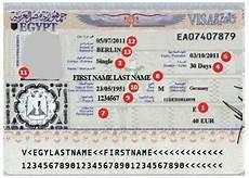 Visum Für ägypten - siehe beispielvisa visumcentrale