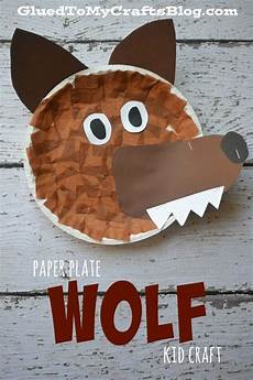 paper plate wolf kid craft wolf craft crafts for