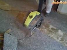 contec bull teppich und pvc entfernen removing carpet and
