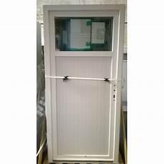 porte de service pvc blanche avec occulus bric mat