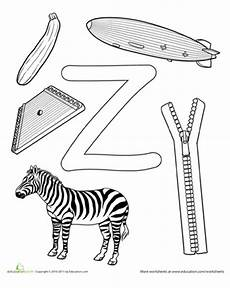preschool worksheets letter z 24263 z is for letter z crafts preschool letters alphabet coloring pages