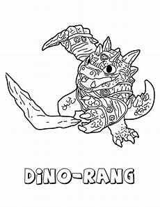 desenho de dino rang de skylanders para colorir tudodesenhos