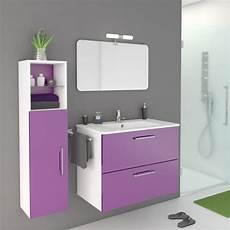 meuble de salle de bains happy violet tulipe n 176 3 81x46 cm