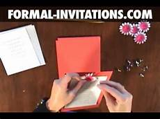 how to make diy wedding invitations with embossed flowers and crystal brads youtube