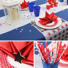 deco theme usa table us independance day birthday usa en 2019