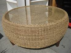 Wicker Coffee Table uhuru furniture collectibles sold wicker drum coffee