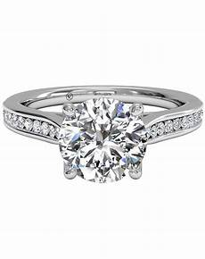 ritani channel set diamond engagement ring with surprise diamonds in 14kt white gold 0 14 ctw