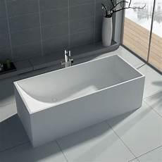 freistehende badewanne groß baignoire 238 lot rectangulaire en solid surface mineral