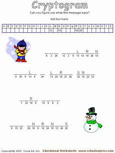 winter cryptogram worksheets 19979 schoolexpress 19000 free worksheets create your own worksheets