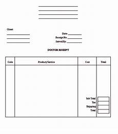 doctor receipt sle template medis