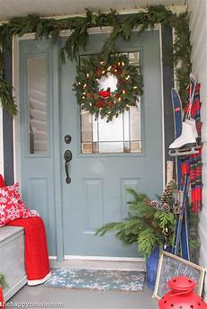 a very merry christmas home tour our christmas porch front entry the happy housie