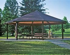steel frame single roof santa fe octagon pavilions pavilions by shape gazebocreations com