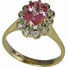 pink sapphire ring padparadscha pink sapphire engagement ring from thegenuinearticle
