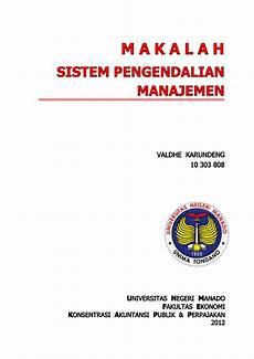 makalah sistem pengendalian manajemen pada perusahaan