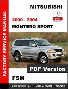 free car repair manuals 2001 mitsubishi montero sport seat position control mitsubishi 2000 2001 2002 2003 2004 montero sport service repair workshop manual ebay