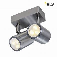 led au 223 enwandstrahler sst 316 led double spot 2x3w 3000k ip44 slv ks licht onlineshop