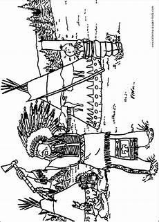 Ausmalbilder Indianer Indians Coloring Pages