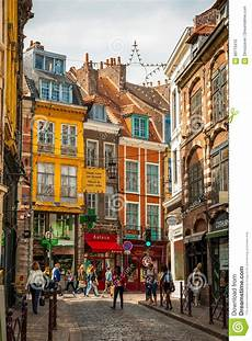 Lille Downtown Editorial Image Image Of Narrow