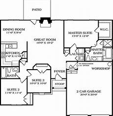 european style house plan 3 beds 2 baths 1400 sq ft plan