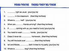 ks2 worksheet your you re their there they re by