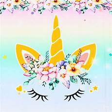 7x5ft Unicorn Flowers Photography Backdrop by Backdrops 7x5ft Unicorn Flowers Photography